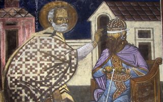 Свети Николај исцељује Св. Стефана Дечанског