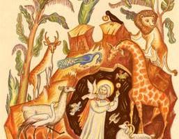 Sveti Vasilije blagosilja zivotinje
